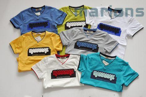 BAHAMAX  Fiú V nyakú  póló K   7  szín   3D  /BAHAMAX/