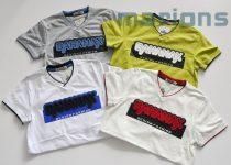 BAHAMAX  Fiú V nyakú  póló N   4 szín   3D  /BAHAMAX/