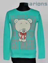 Marions lány gyerek és kamasz  póló  3 szín / Macis nyakában masnival/