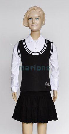 Marions lány kamasz fehér ing , fekete mellénnyel. / MG blúz /