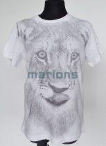 Marions fiú kamasz  póló /  oroszlán fej/fekete-fehér/