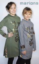 Marions / Lány ruha flitteres simogatós résszel /4 szín/Teltebb lányok  részére is!/