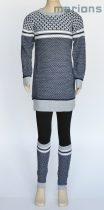 Marions lány gyerek és kamasz kötött tunikás ruha+lábszárvédő