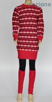 Marions kötött mintás ruha+lábszárvédő