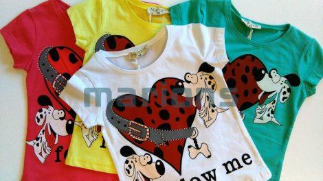 Marions lány gyerek  póló 4 szín / follow me/