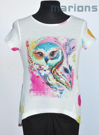 Marions / Lány póló   / Bagoly színes pöttyös  2 szín