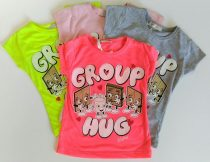 Marions lány gyerek csoki illatú póló  4 szín/ Group /