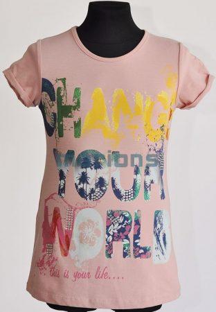 You World   lány póló / CHANGE YOUR WORLD /
