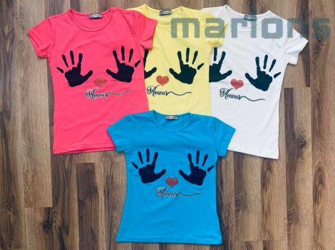 Lány kezes póló