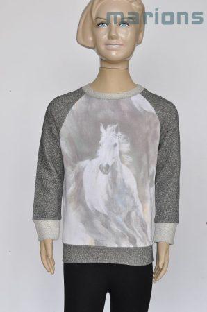 You World  lány gyerek és kamasz póló / fehér ló /