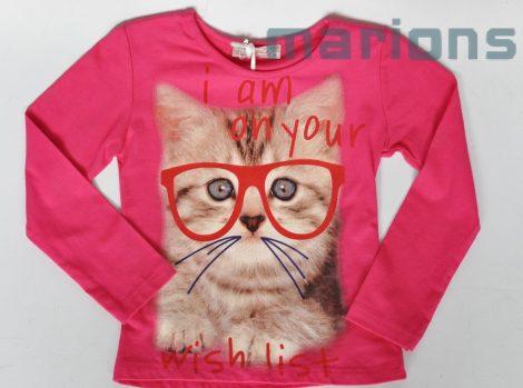 You World   /lány  gyerek póló /szemüveges cica/