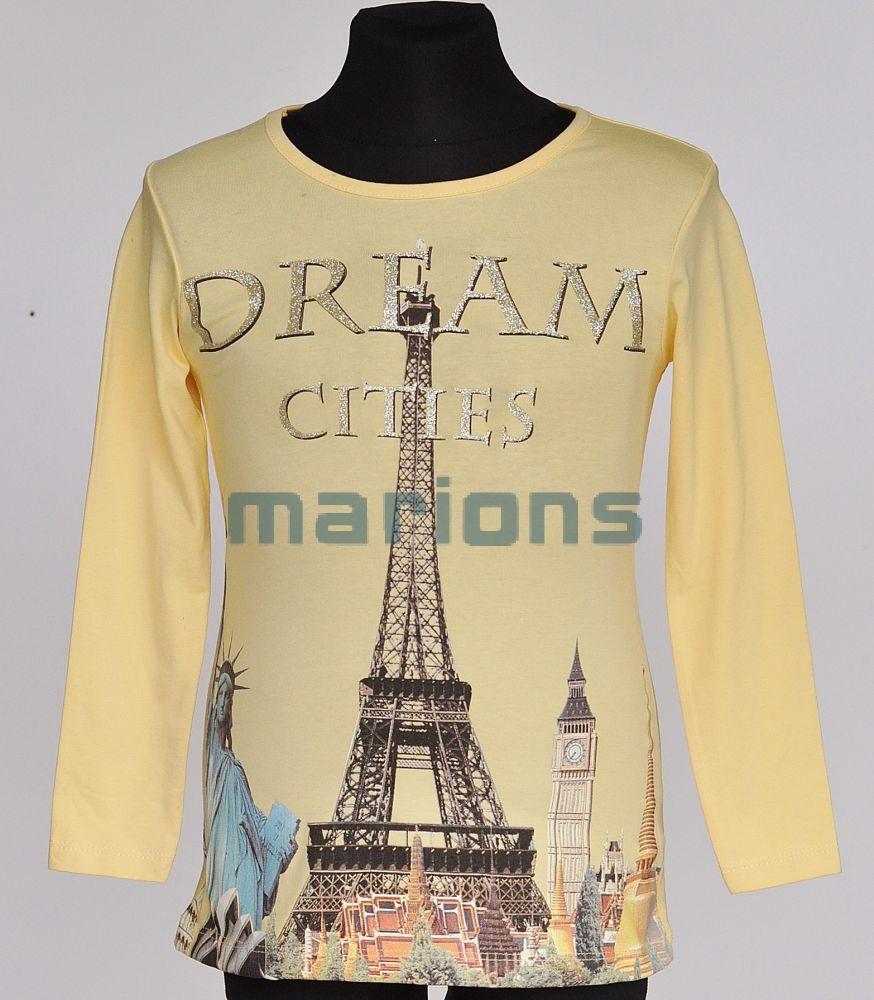 55eaa3dbee Marions lány gyerek és póló 4 szín / Dream Cities kicsi/ - Marions a ...