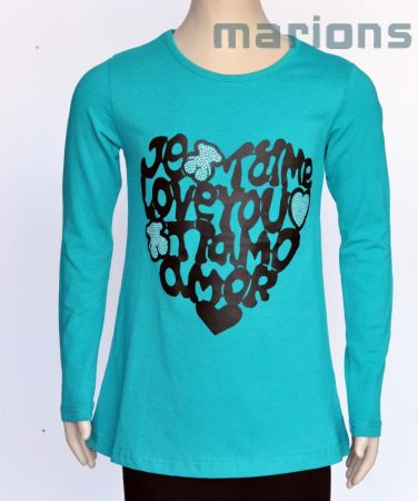 Lány hosszú ujjú póló  2 SZÍN /LOVE YOU/...