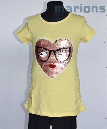 You World   / Lány SIMOGATÓS póló 5 SZÍN szemüveges szem/