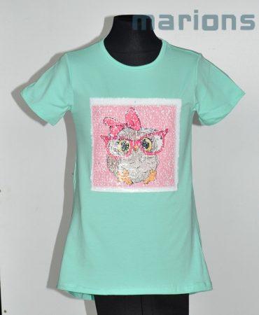 You World   / Simogatós lány   r. ujjú póló / OWL LOVE /