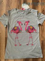 Flamingós póló