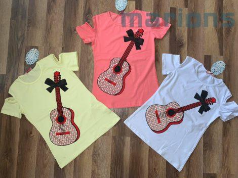 Lány gitáros póló